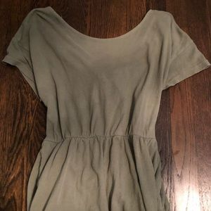 free people tie up open back romper